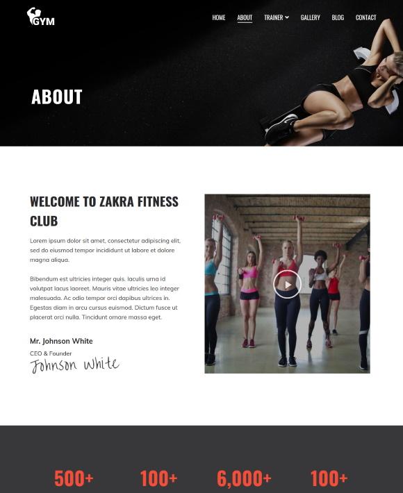 About – Zakra Gym