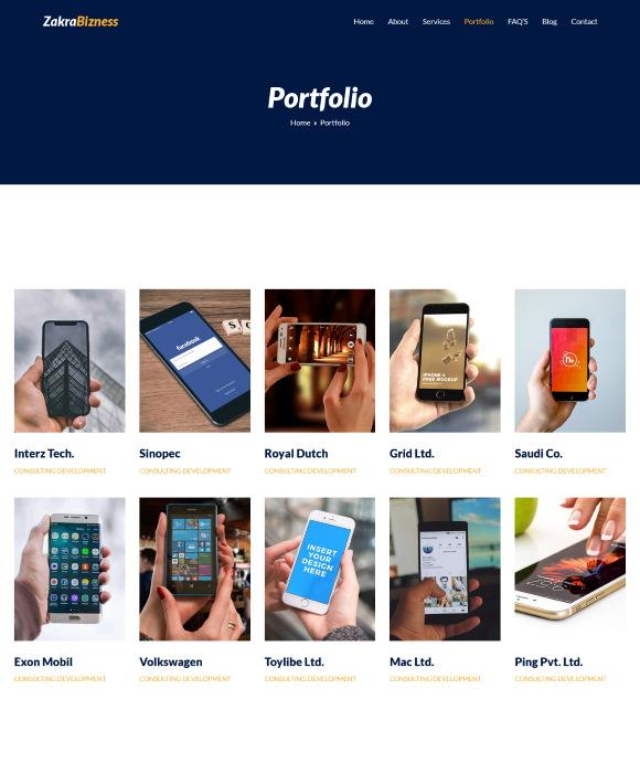 Portfolio – Zakra Business