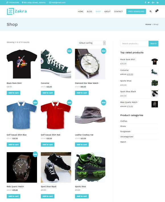 Products – Zakra Business Firm