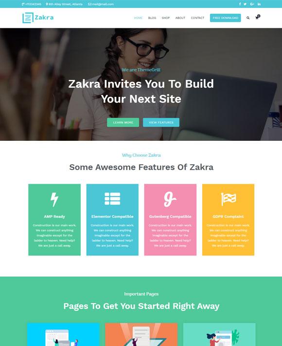 business firm zakra free elementor templates