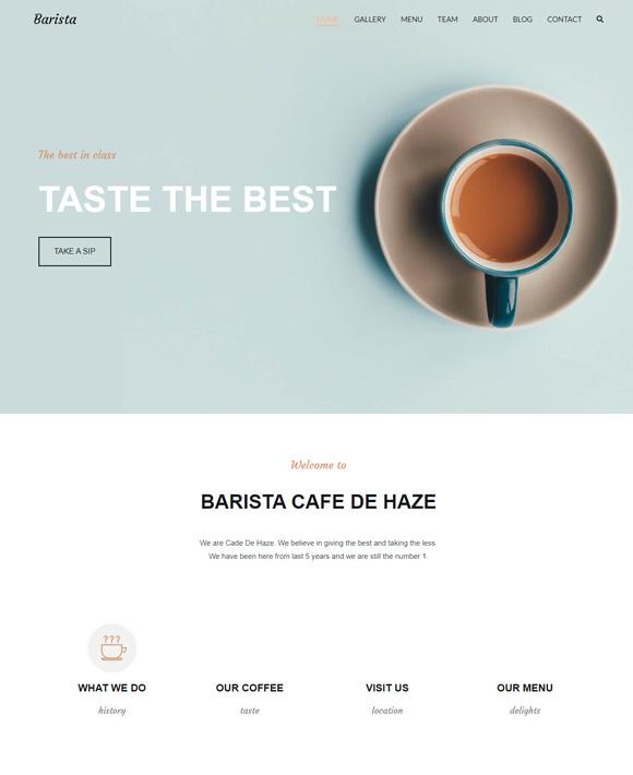 cafe zakra free elementor templates