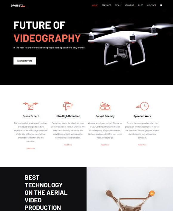drone zakra free elementor templates