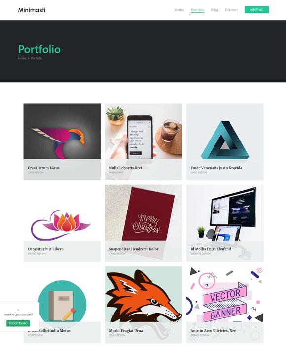 minimal portfolio Zakra 2