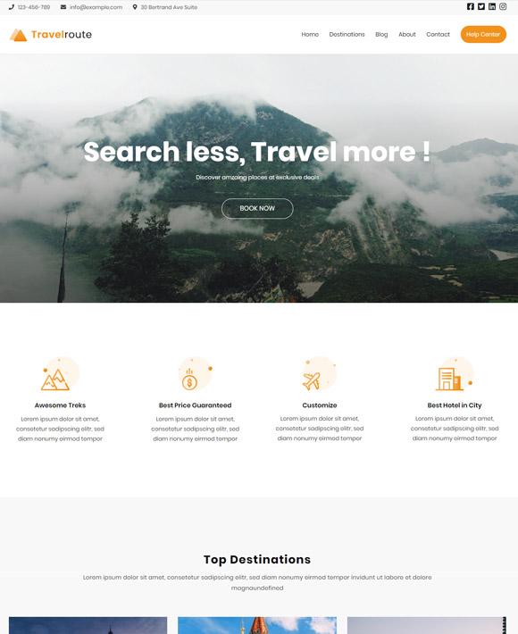 travel zakra free elementor templates