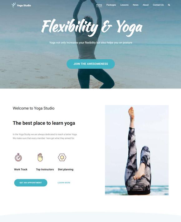 yoga zakra free elementor templates